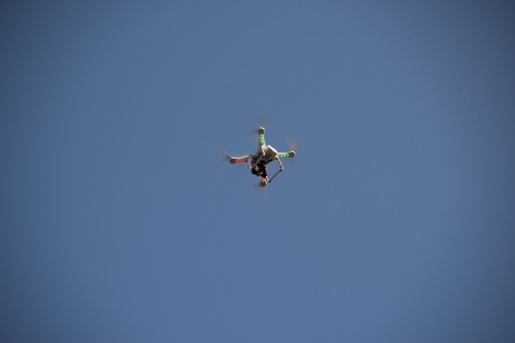 quadcopter with long flight time in the air