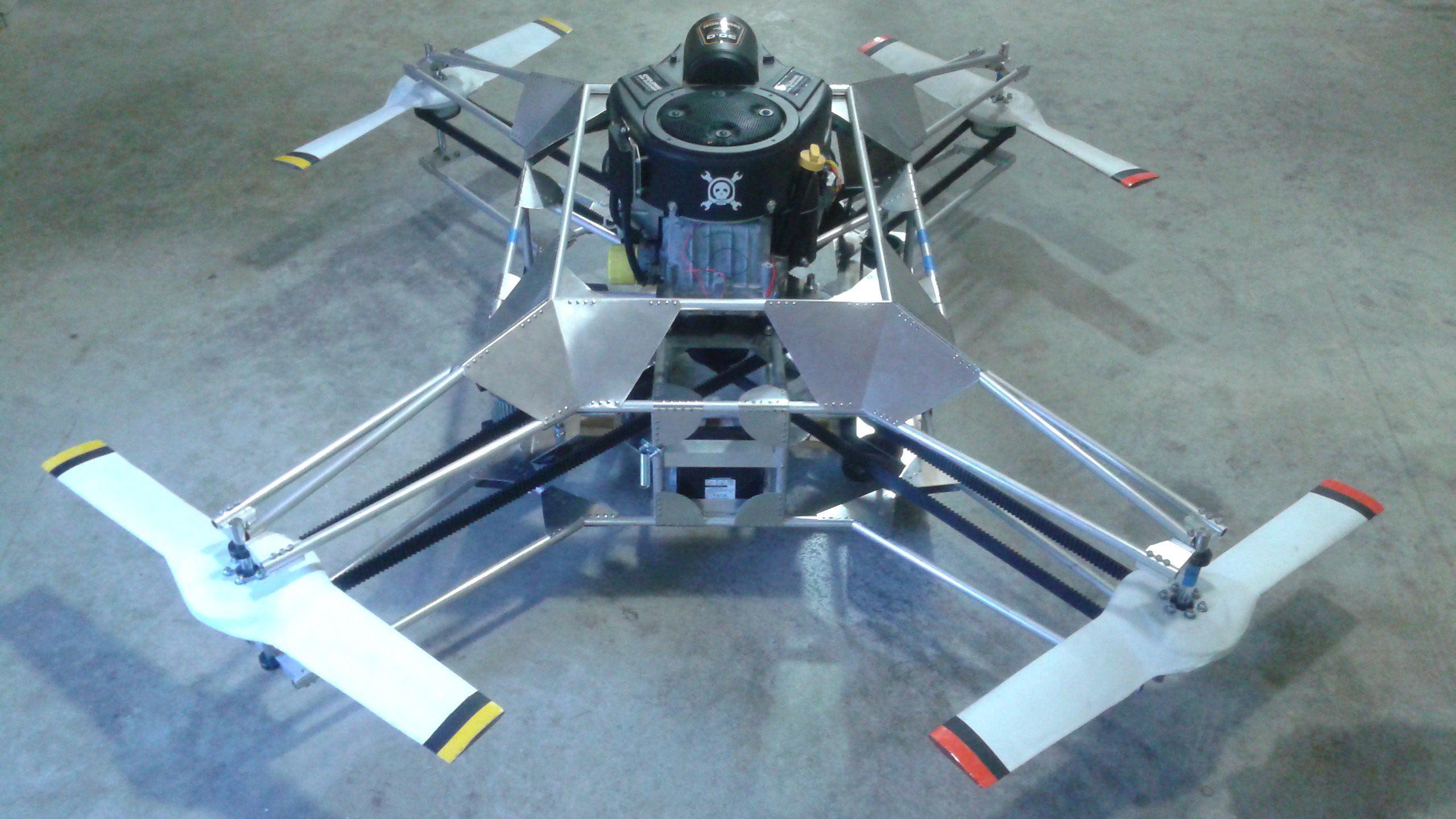 goliath gasoline quadcopter